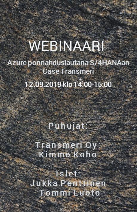 WEBINAARI: Azure ja S/4HANA – Case Transmeri