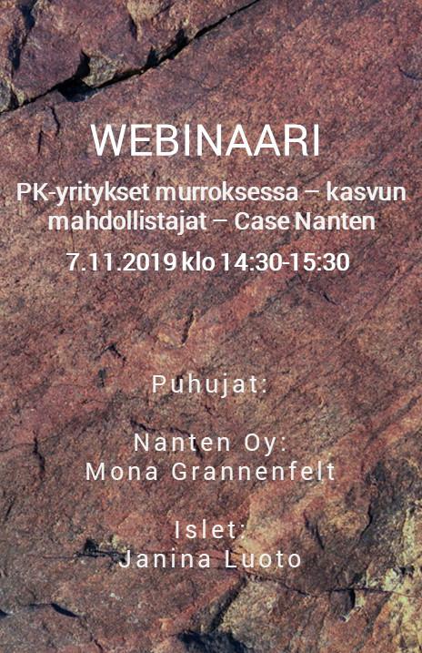 WEBINAARI 7.11.2019: PK-yritykset murroksessa – Case Nanten