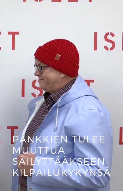 Jouko Rekolainen: Pankkien tulee muuttua säilyttääkseen kilpailukykynsä