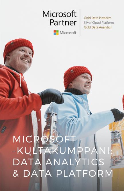 Isletistä Microsoftin kultakumppani Data Analytics ja Data Platform -alueilla