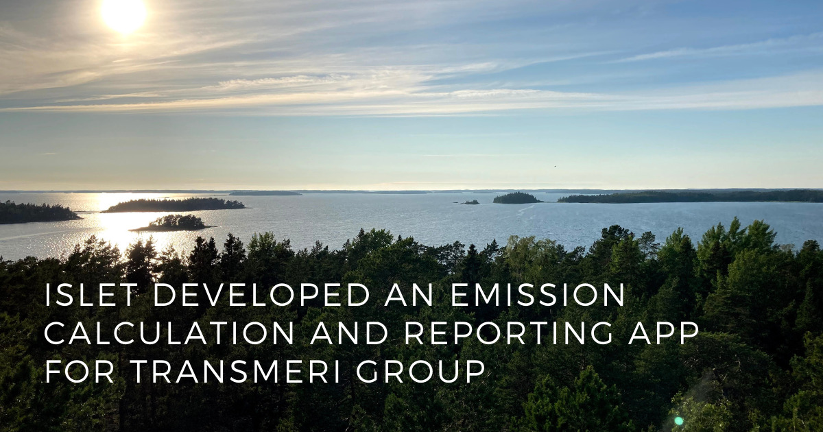 Islet developed an emission app for Transmeri Group to advance their sustainability efforts - ISLET